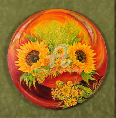 giallo-come-il-sole-olio-su-tela-con-foglia-oro-50x50